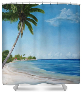 """Another Day In Paradise"" Shower Curtain BUY $80"
