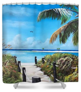 """Beach Time On The Key"" Shower Curtain BUY"