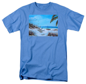 """Broken Fence On Beach"" T Shirt BUY $28"