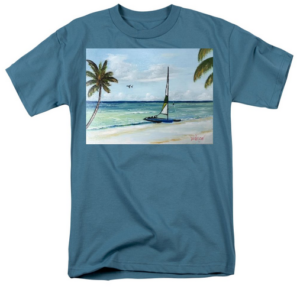 """Catamaran On The Beach"" T-Shirt BUY"