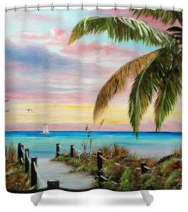"""Colors Of Siesta Key"" Shower Curtain BUY $80"