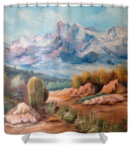 """Colors Of The High Desert"" Shower Curtain BUY $80"