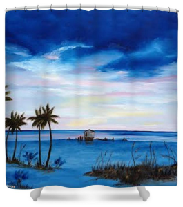 """Colors On The Gulf"" Shower Curtain BUY $80"