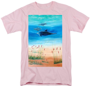 """Dolphins Underwater"" T-Shirt BUY"