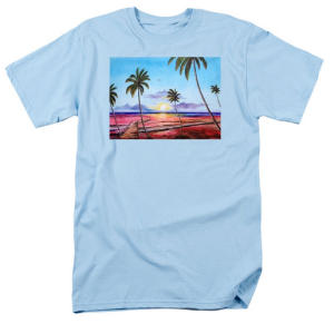 """Fishing Pier Sunset"" T Shirt BUY $28"