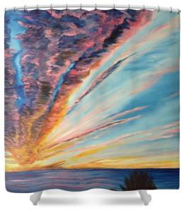 """God's Sunset Masterpiece On Siesta Key"" Shower Curtain BUY $80"