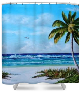 """In Paradise"" Shower Curtain BUY $80"