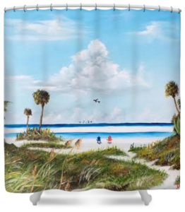 """In Paradise"" Shower Curtain BUY"