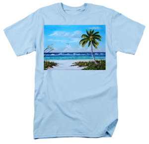"""In Paradise"" T Shirt BUY $28"