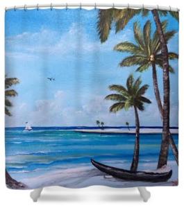 """Island Paradise"" Shower Curtain BUY"