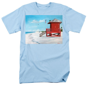 """Let's Meet At The Red Lifeguard Shack"" T-Shirt BUY"