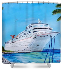 """My Carnival Cruise"" Shower Curtain BUY $80"