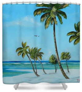 """My Paradise"" Shower Curtain BUY"