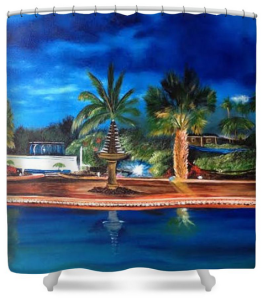 """Our Paradise Retreat"" Shower Curtain BUY $80"