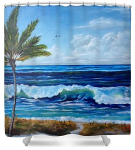 """Our Siesta Key Vacation"" Shower Curtain BUY"