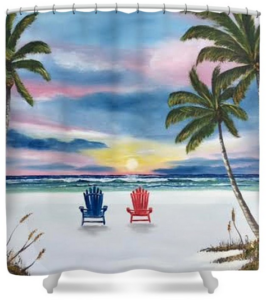 """Our Spot At Sunset"" Shower Curtain BUY"
