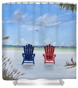 """Our Spot On Siesta Key"" Shower Curtain BUY"