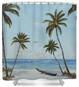 """""""Paradise Beach"""" Shower Curtain BUY"""