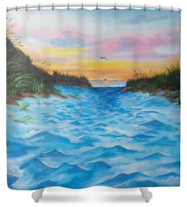 """Path To The Key At Sunset"" Shower Curtain BUY $80"