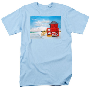 """Red Life Guard Shack On The Key"" T Shirt BUY $28"