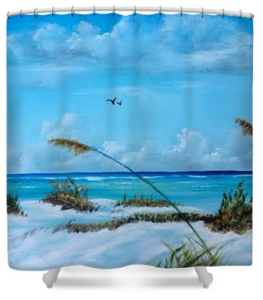 """Sea Grass On The Key"" Shower Curtain BUY"