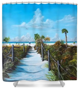 """Siesta Beach Access"" Shower Curtain BUY"