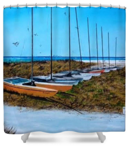 """Siesta Key Access #8 Catamarans"" Shower Curtain BUY $80"