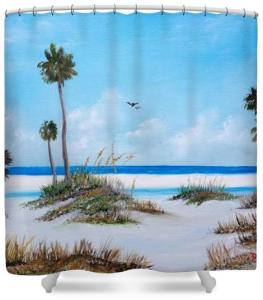 """Siesta Key Fun"" Shower Curtain BUY $80"