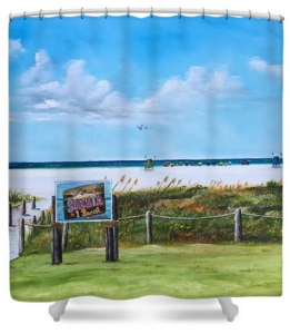 """""""Siesta Key Public Beach"""" Shower Curtain BUY"""