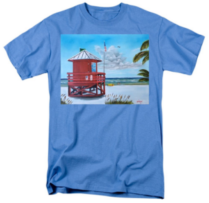 """Siesta Key Red Lifeguard Shack"" T-Shirt BUY"