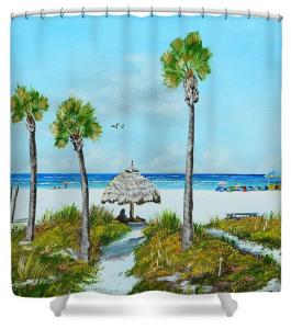 """Sirata Beach Resort Paradise Beach"" Shower Curtain BUY"