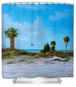 """""""Suncoast Beach"""" Shower Curtain BUY $80"""