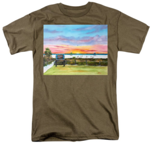 """Sunset At Siesta Key Public Beach"" T-Shirt BUY"