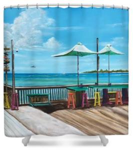 """Sunset Pier Key West"" Shower Curtain BUY"