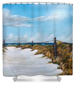"""To The Beach"" Shower Curtain BUY"