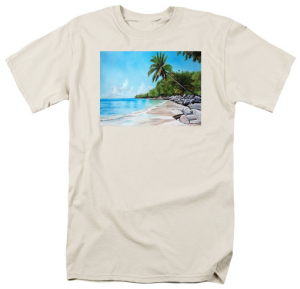 """Tropical Beach In Paradise"" T Shirt BUY $28"