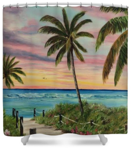"""Tropical Paradise"" Shower Curtain BUY $80"