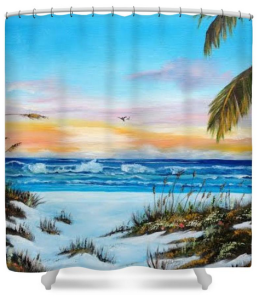 """Why Not Siesta Key"" Shower Curtain BUY $80"
