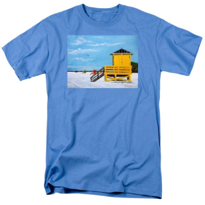 """Yellow Life Guard Shack On Siesta Key"" T Shirt BUY $28"