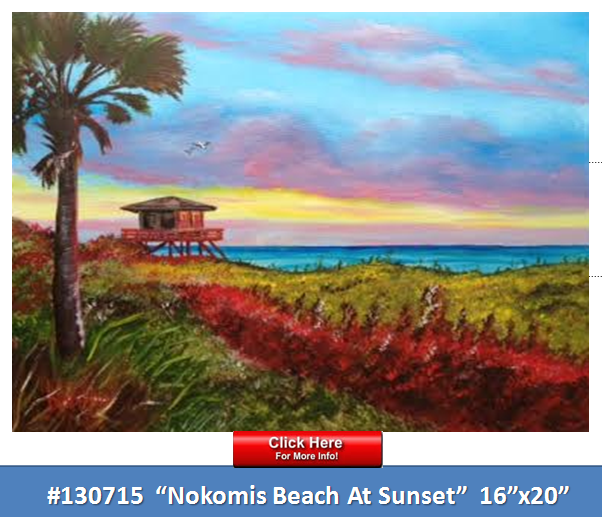 !_-_#130715_-_Nokomis_Beach_At_Sunset_-_16x20_-_Pinterest