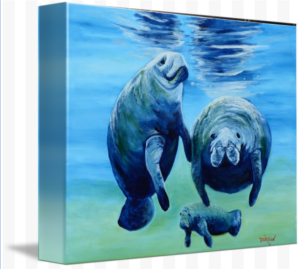 """A Manatee Family"" Starting at $75 BUY"
