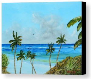 """A Piece Of Paradise"" Canvas Print BUY"