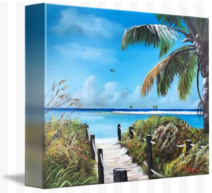 """Beach Time On The Key"" Starting at $75 BUY"