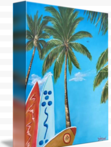 """Clear Sky Let's Surf"" Starting at $75 BUY"