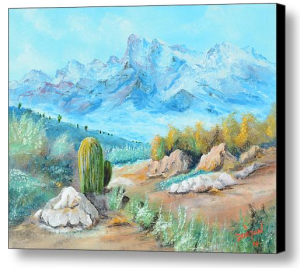 """Colors Of The High Desert"" Canvas Print BUY"