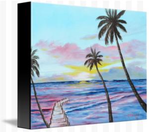 """""""Fishing Pier At Sunset"""" Starting at $75 BUY"""