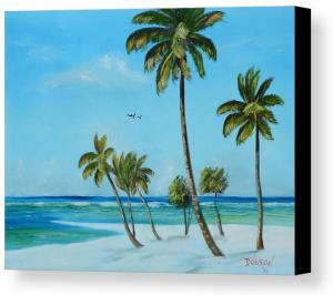 """My Paradise"" Canvas Print BUY"