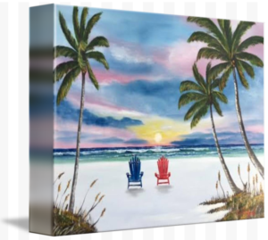 """Our Spot At Sunset"" Starting at $75 BUY"