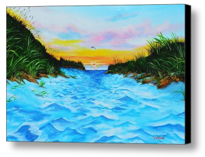 """Path To The Key At Sunset"" Canvas Print BUY"
