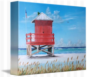 """Red Lifeguard Shack On The Key"" Staring at $75 BUY"